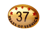 37 YEARS SELF ADHESIVE YEARS OF SERVICE