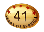 41 YEARS SELF ADHESIVE YEARS OF SERVICE