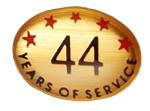 44 YEARS SELF ADHESIVE YEARS OF SERVICE