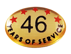 46 YEARS SELF ADHESIVE YEARS OF SERVICE