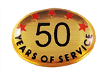 50 YEARS SELF ADHESIVE YEARS OF SERVICE