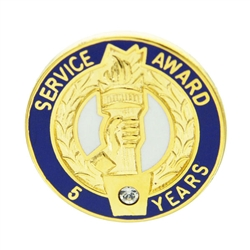 5 YEAR CRYSTAL AWARD PIN