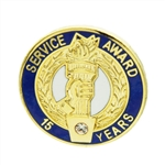 15 YEAR CRYSTAL AWARD PIN