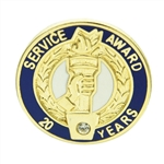20 YEAR CRYSTAL AWARD PIN