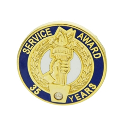 35 YEAR CRYSTAL AWARD PIN