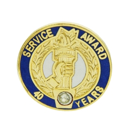40 YEAR CRYSTAL AWARD PIN