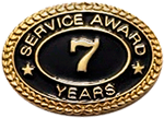 7 YEARS SERVICE AWARD PIN