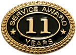 11 YEARS SERVICE AWARD PIN