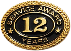 12 YEARS SERVICE AWARD PIN