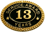 13 YEARS SERVICE AWARD PIN