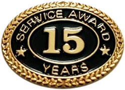 15 YEARS SERVICE AWARD PIN