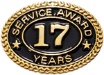 17 YEARS SERVICE AWARD PIN