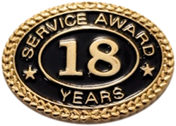 18 YEARS SERVICE AWARD PIN