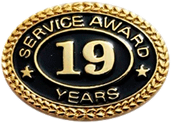19 YEARS SERVICE AWARD PIN