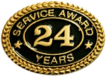 24 YEARS SERVICE AWARD PIN