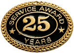 25 YEARS SERVICE AWARD PIN
