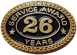 26 YEARS SERVICE AWARD PIN