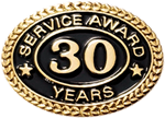 30 YEARS SERVICE AWARD PIN