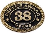 38 YEARS SERVICE AWARD PIN