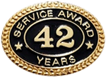 42 YEARS SERVICE AWARD PIN