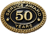 50 YEARS SERVICE AWARD PIN