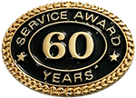 60 YEARS SERVICE AWARD PIN