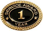 1 YEAR SERVICE AWARD PIN