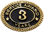 3 YEARS SERVICE AWARD PIN