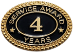 4 YEARS SERVICE AWARD PIN