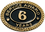 6 YEARS SERVICE AWARD PIN