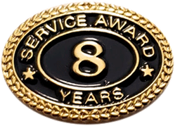 8 YEARS SERVICE AWARD PIN