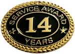 14 YEARS SERVICE AWARD PIN