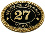 27 YEARS SERVICE AWARD PIN