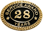 28 YEARS SERVICE AWARD PIN