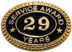 29 YEARS SERVICE AWARD PIN