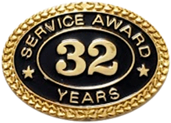 32 YEARS SERVICE AWARD PIN