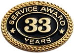 33 YEARS SERVICE AWARD PIN