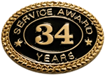 34 YEARS SERVICE AWARD PIN