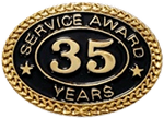 35 YEARS SERVICE AWARD PIN