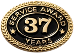 37 YEARS SERVICE AWARD PIN