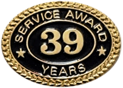 39 YEARS SERVICE AWARD PIN
