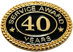 40 YEARS SERVICE AWARD PIN