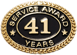 41 YEARS SERVICE AWARD PIN