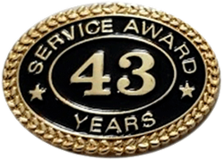 43 YEARS SERVICE AWARD PIN