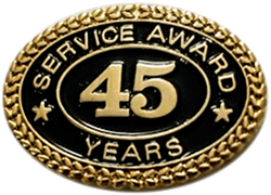 45 YEARS SERVICE AWARD PIN