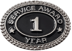 SILVER 1 YEAR SERVICE AWARD PIN