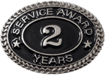 SILVER 2 YEARS SERVICE AWARD PIN
