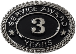 SILVER 3 YEARS SERVICE AWARD PIN