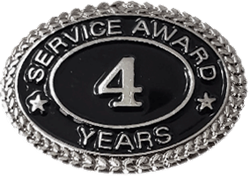SILVER 4 YEARS SERVICE AWARD PIN