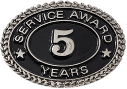 SILVER 5 YEARS SERVICE AWARD PIN